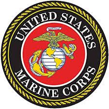 Amazon Com Usmc Emblem United States Marine Corps Seal 5 Round Decal Sticker For Cars Trucks Laptops Etc Full Color Automotive