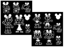 Disney Mickey Mouse Ears Family Vinyl Decal Set Chr5381