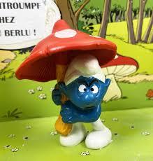 smurfs schleich 20168 mushroom smurf