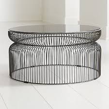 glass coffee tables crate and barrel