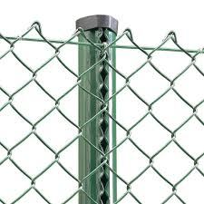 Green Pvc Coated Chain Link Fencing 180cm 6ft High