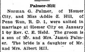 Marriage Norman Palmer Addie Hill - Newspapers.com