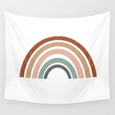 Rainbow Earth Tone Cute Kids Room Decor Muted Rainbow Art Print For Nursery Wall Tapestry By Charlottewinter Society6
