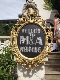 diy wedding project ornate chalkboard sign