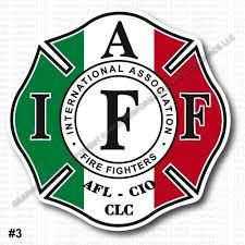 Amazon Com High Performance Vinyl Graphics Llc Iaff Union Firefighter Decal Sticker Italy Italian Flag 3 7 Laminated Regular Mount 0337 Automotive