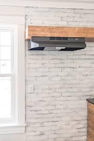 install vent hood in open shelving