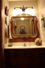 old dresser mirror in a bathroom neat