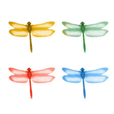 4pcs Pvc 3d Simulation Dragonfly Wall Stickers Dragonflies Art Decals Decor Buy At A Low Prices On Joom E Commerce Platform
