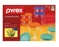 pyrex glass storage set 20 piece food