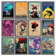 Kiki S Delivery Service Vintage Posters For Home Bar Living Decor Kraft Paper High Quality Poster Wall Sticker Wish