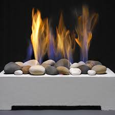 natural gas fireplace gas stones