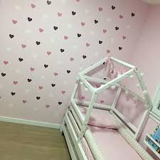 Heart Wall Sticker For Kids Room Baby Girl Room Decorative Stickers Nursery Room Ebay
