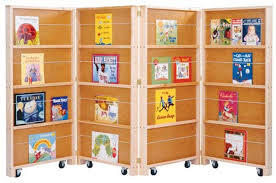 Jonti Craft Mobile Library Bookcase 4 Sections Play Pannels Kids Room Dividers
