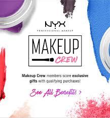 nyx cosmetics member freebies milled