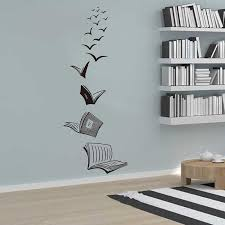 Reading Book Fly Birds Wall Decal Library School Classroom Decal Book Study Room Vinyl Wall Sticker Bedroom Wall Art A718 Wall Stickers Aliexpress