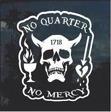 Blackbeard No Quarter Window Decal Sticker Custom Sticker Shop Window Decals Blackbeard Pirate Tattoo