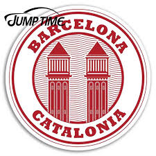 Jump Time For Barcelona Catalonia Vinyl Stickers Spain Eu Luggage Sticker Auto Bumper Motor Decal Waterproof Car Accessories Car Stickers Aliexpress