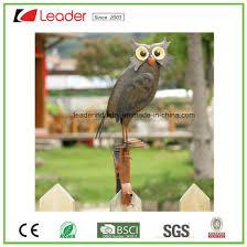 china hand painted metal owl figurine