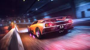 sports car wet tunnel supercars