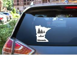 Minnesota Canoe Window Decal Home State Decal For Cars Etsy Window Decals Canoe Water Bottle Decal