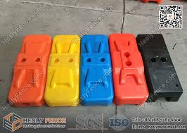 Temporary Fencing Hdpe Feet With Uv Treated Blow Mould Injection Mould Plastic Base