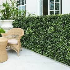 Shop 12 Pcs Artificial Boxwood Privacy Screen Faux Plant Wall 20 X20 Overstock 31569016