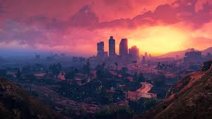 grand theft auto v los santos sunset