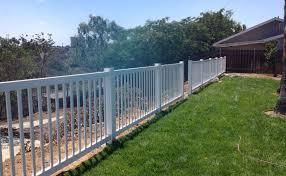 48 Inch Tall White Vinyl Picket Perimeter Fence Vinyl Pro Fence