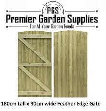 Brand New Feather Edge Semi Braced Strong Garden Gate Driveway Fence Wood Timber Ebay