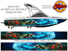 Amazon Com The Kraken Custom Boat Wrap Design 22 Feet X 34 Inches Automotive