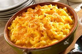 homemade macaroni and cheese with a