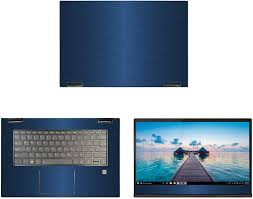Amazon Com Decalrus Protective Decal For Lenovo Yoga 730 15 15 6 Screen Laptop Blue Texture Brushed Aluminum Skin Case Cover Wrap Balenovoyoga730 15blue Computers Accessories