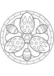 Kleurplaat Mandala Kleurplaten 5258 Paaseieren Met