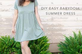 diy easy babydoll summer dress with