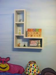 l shaped wall shelf ana white