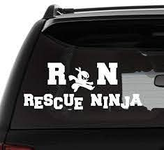 Amazon Com Rn Rescue Ninja Vinyl Car Decal Laptop Decal Tumbler Decal Water Bottle Sticker A Variety Of Colors To Choose From Handmade
