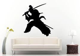Samurai Ancient History Japanese Warrior With A Sword Wall Etsy Japanese Warrior Vinyl Wall Decals Samurai
