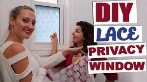 Diy Lace Privacy Window Basic Girls Guide Youtube