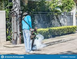 Mosquito Fogging Spray And Insecticide Pest Control For Stoping Insect Breeding And Preventing Malaria Dengue Epidemic Fever Editorial Stock Photo Image Of Health Awareness 186488283