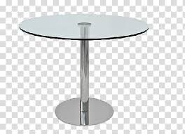 round clear glass top pedestal table