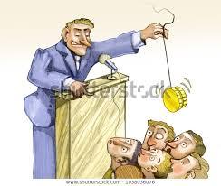 Politician Enchants Voters Stage Jojo Coin Stock Illustration ...