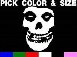 The Misfits Skull Vinyl Sticker Decal Car Sticker Punk Danzig Pick Size Color Ebay