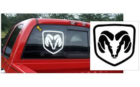 Graphic Express Dodge Ram Head Decal 12 X 12