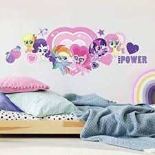 Roommates My Little Pony Let S Get Magical Peel And Stick Removable Giant Wall Decals Amazon Com