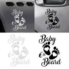 Baby On Board Foot Print Vinyl Decal Sticker Car Window Bumper Decor 12cm 17cm Ebay