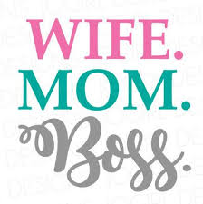 Wife Mom Boss Decal Cell Phone Decal Yeti Cup Decal Laptop Decal Mom Decal Busy Mom Silhouette Cameo Projects Vinyl Designs