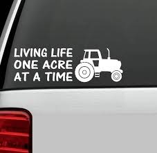 Farm Tractor Life Decal Sticker For Car Truck Suv Van Laptop Suv Boat Trailer Barn Wall Art Wish