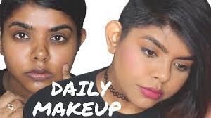 everyday makeup for dusky dark indian