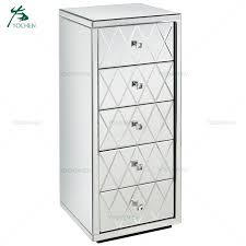 mirror glass tall chest of drawers tallboy