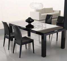 glass top dining table set modern room